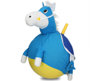 40cm Plush Pony Space Hopper Blue Horse